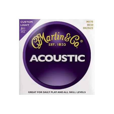 Corde per chitarra acustica Martin  M175-80/20 BRONZE LIGHT