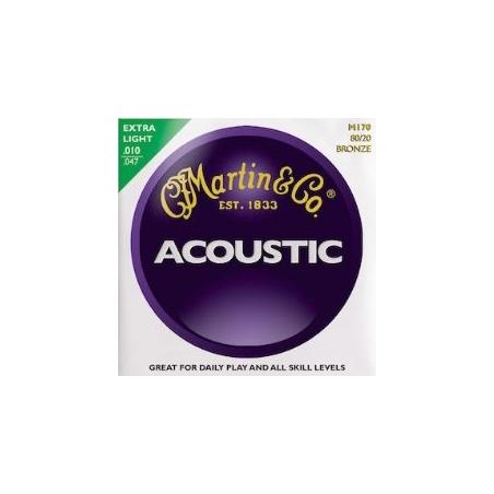 Corde per chitarra acustica Martin  M170-80/20 BRONZE EXTRA LIGHT