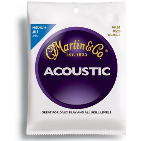Corde per chitarra acustica Martin  M150-80/20 BRONZE MEDIUM