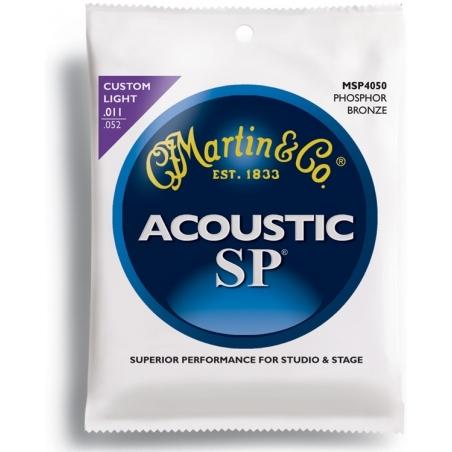 Corde per chitarra acustica Martin  MSP 4050 phosphor bronze custom light