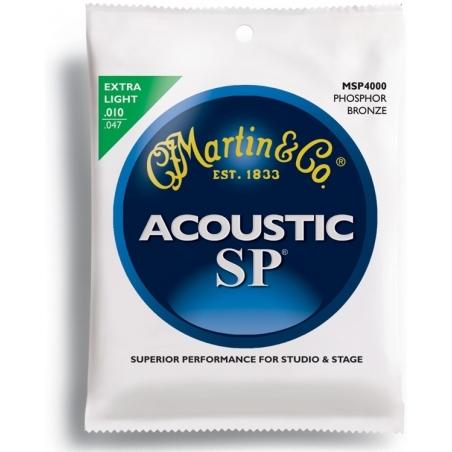 Corde per chitarra acustica Martin MSP4000 phosphor BRONZE extra light