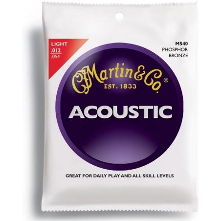 Corde per chitarra acustica Martin M540 phosphor bronze light