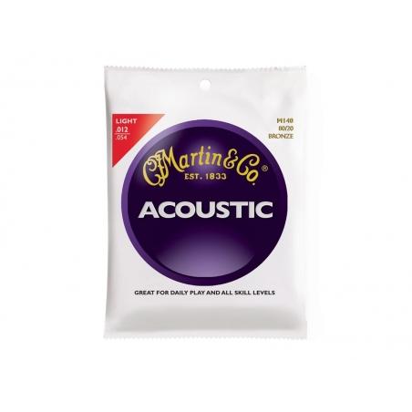 Corde per chitarra acustica Martin M140-80/20 BRONZE LIGHT