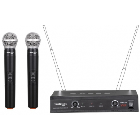 SET  MICROFONI WIRELESS PA MV 10
